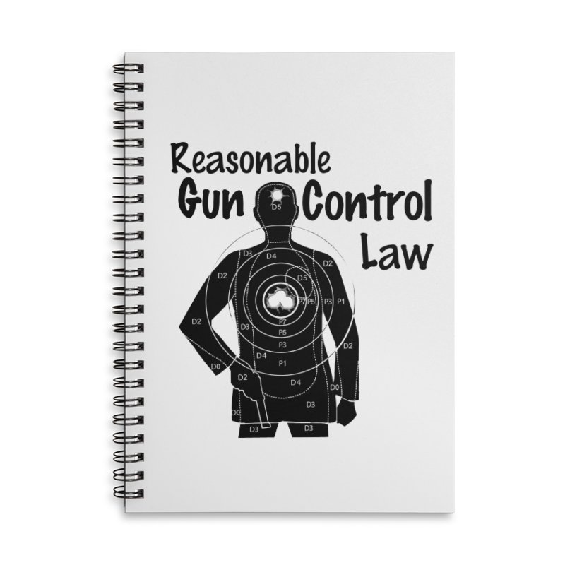 Reasonable Laws Accessories Lined Spiral Notebook by DesignsbyAnvilJames's Artist Shop