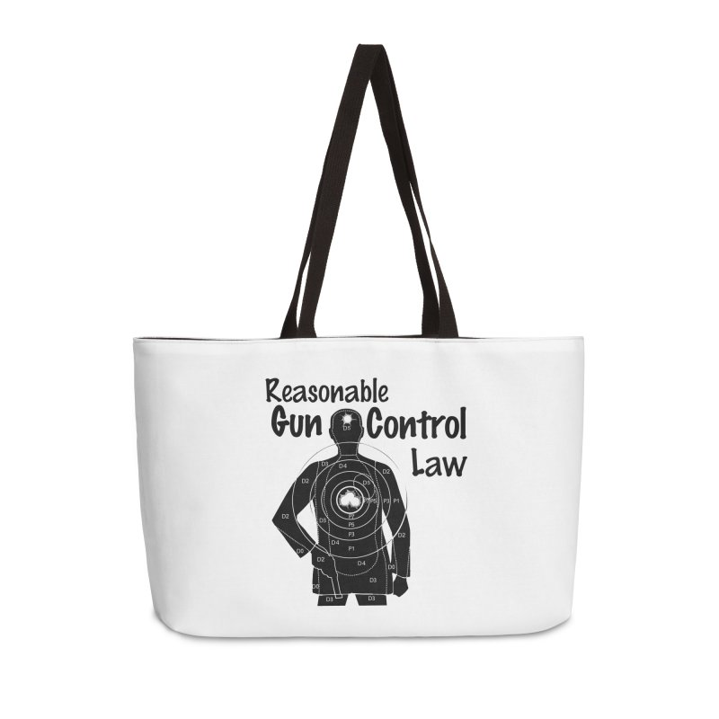 Reasonable Laws Accessories Weekender Bag Bag by DesignsbyAnvilJames's Artist Shop