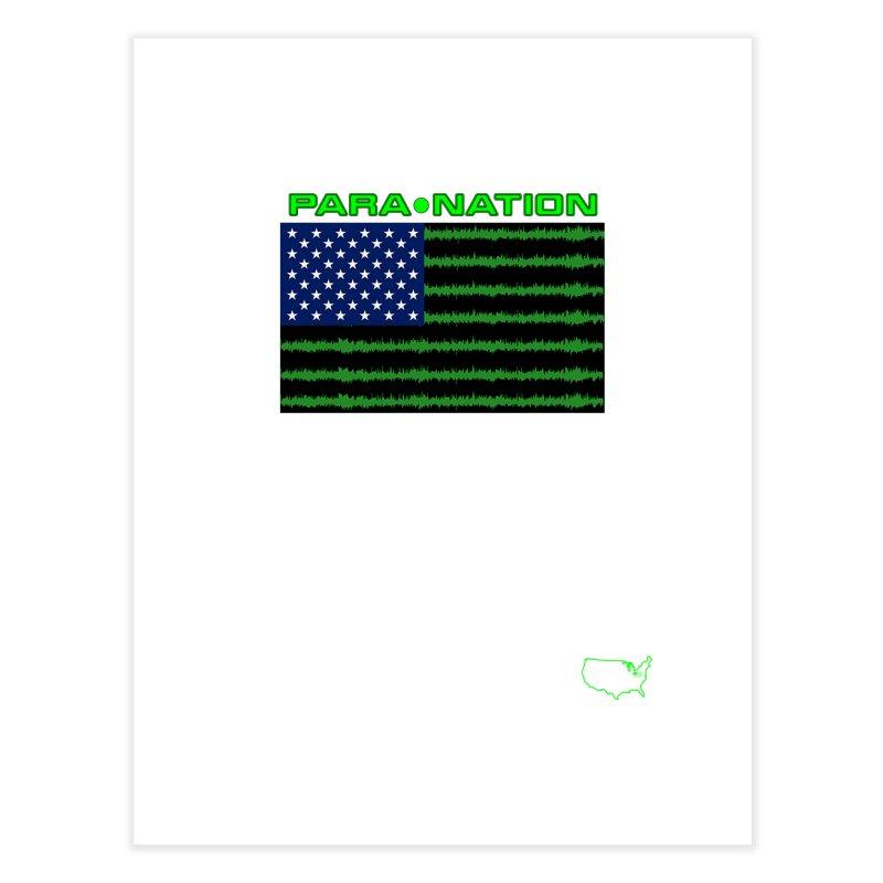 New Paranation Tee Home Fine Art Print by DesignsbyAnvilJames's Artist Shop