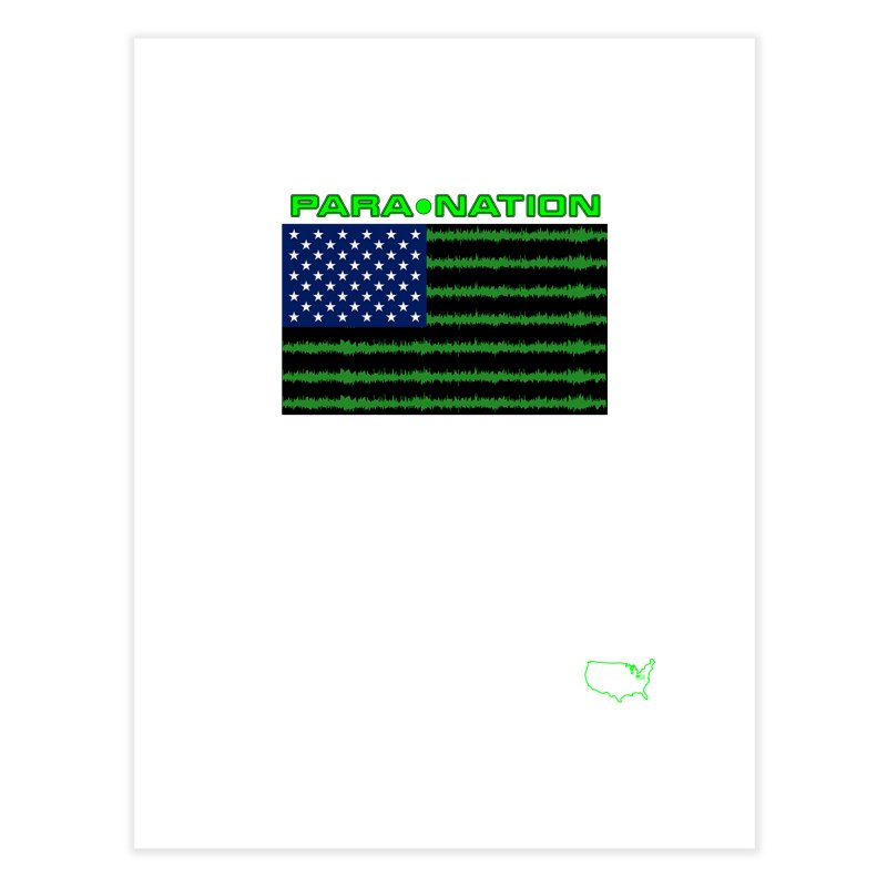 New Paranation Tee Home Fine Art Print by DesignsbyAnvilJames's Artist Shop