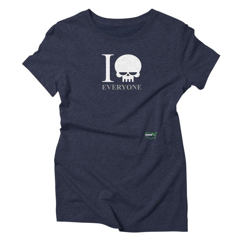 I (skull) Everyone v2 Women's T-Shirt by DesignsbyAnvilJames's Artist Shop