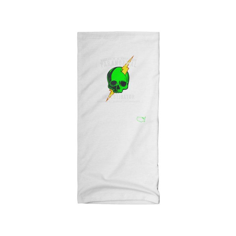 PI Bolt (White) Accessories Neck Gaiter by DesignsbyAnvilJames's Artist Shop
