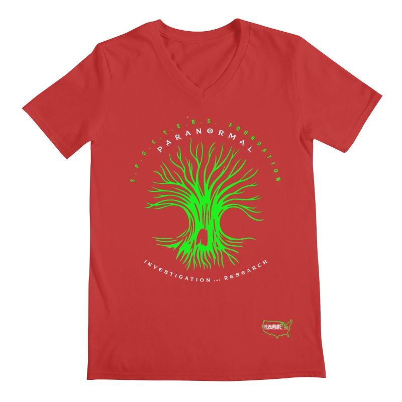 Screaming Tree (green) Men's V-Neck by DesignsbyAnvilJames's Artist Shop
