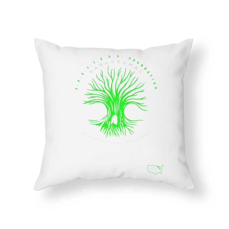 Screaming Tree (green) Home Throw Pillow by DesignsbyAnvilJames's Artist Shop