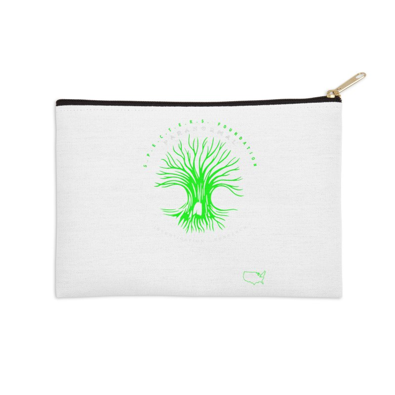 Screaming Tree (green) Accessories Zip Pouch by DesignsbyAnvilJames's Artist Shop
