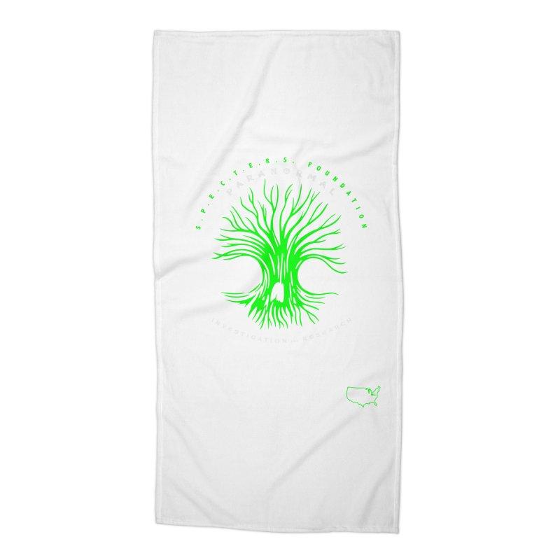 Screaming Tree (green) Accessories Beach Towel by DesignsbyAnvilJames's Artist Shop