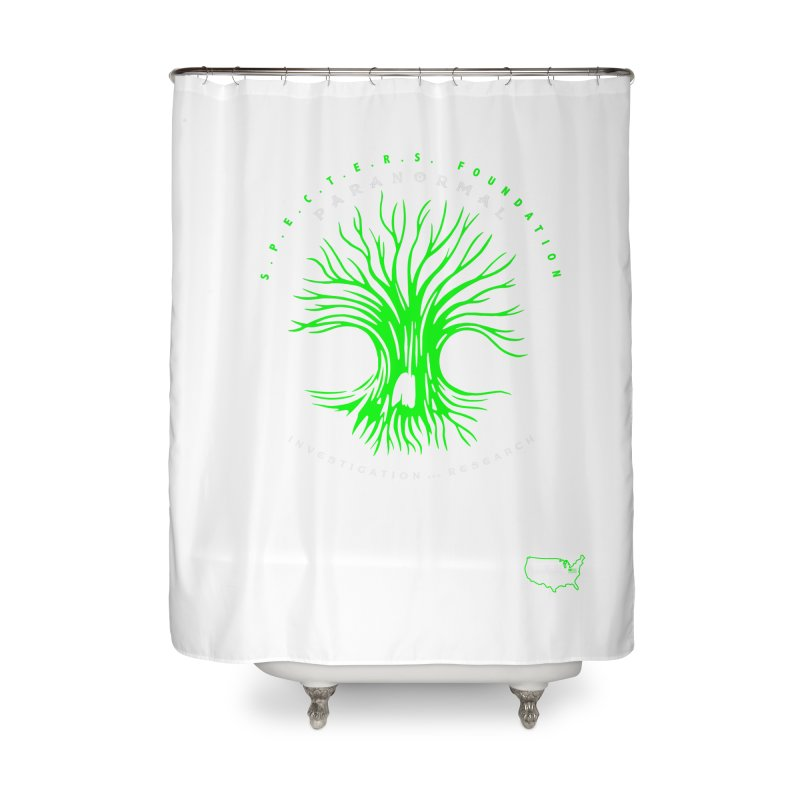 Screaming Tree (green) Home Shower Curtain by DesignsbyAnvilJames's Artist Shop