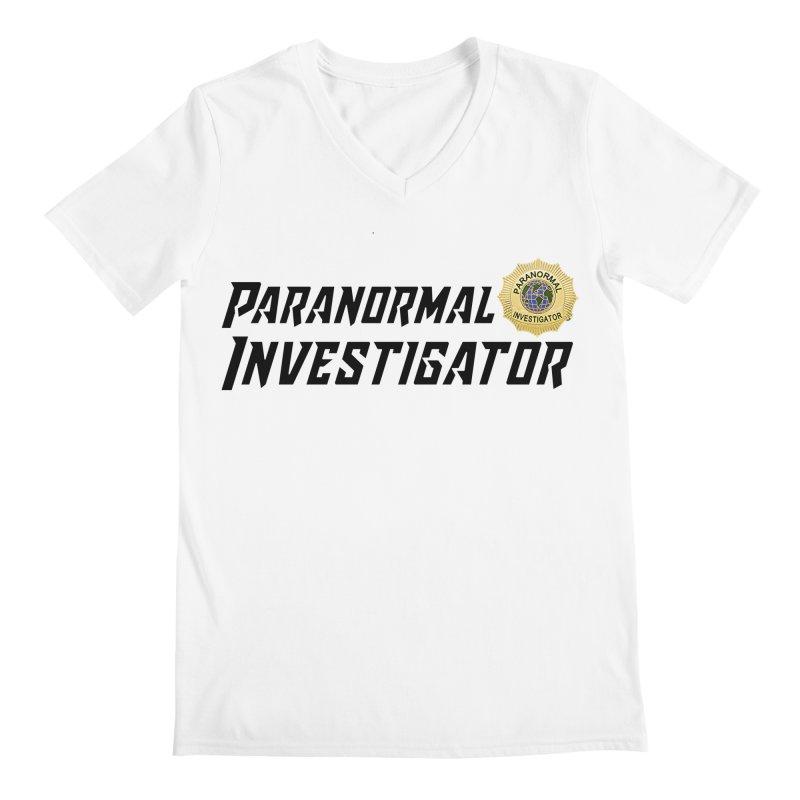 Paranormal Investigator (World) Men's V-Neck by DesignsbyAnvilJames's Artist Shop