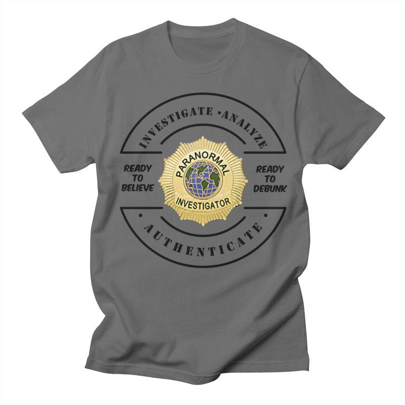 PI Believe & Debunk Men's T-Shirt by DesignsbyAnvilJames's Artist Shop