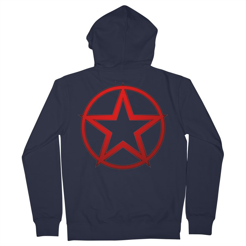 RED STAR Men's French Terry Zip-Up Hoody by DesignsbyAnvilJames's Artist Shop