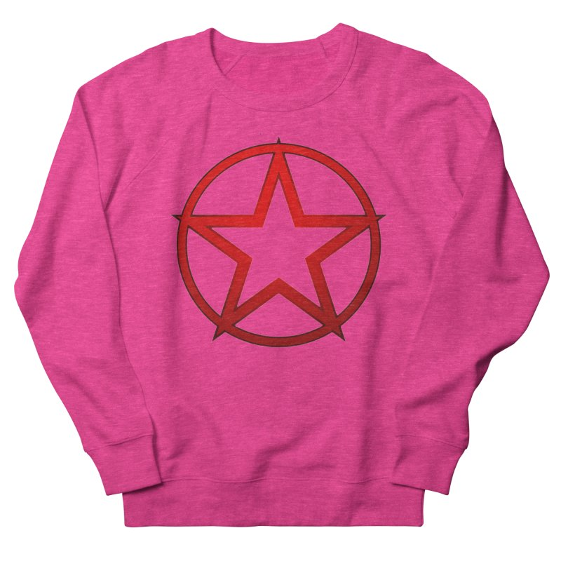 RED STAR Women's French Terry Sweatshirt by DesignsbyAnvilJames's Artist Shop