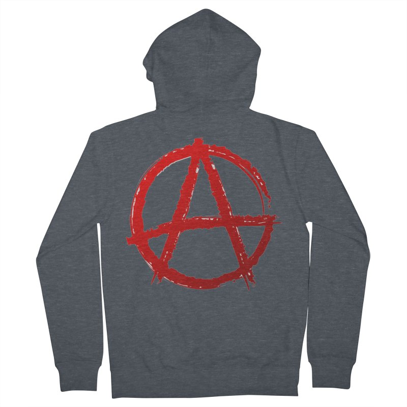 ANARCHY Men's French Terry Zip-Up Hoody by DesignsbyAnvilJames's Artist Shop