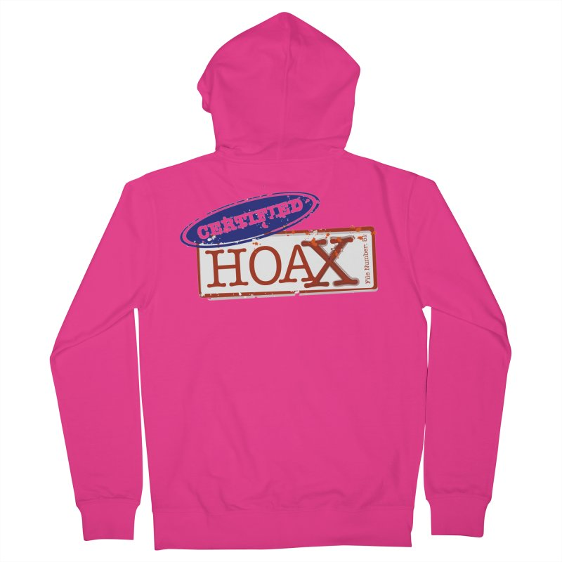 HOAX Men's French Terry Zip-Up Hoody by DesignsbyAnvilJames's Artist Shop