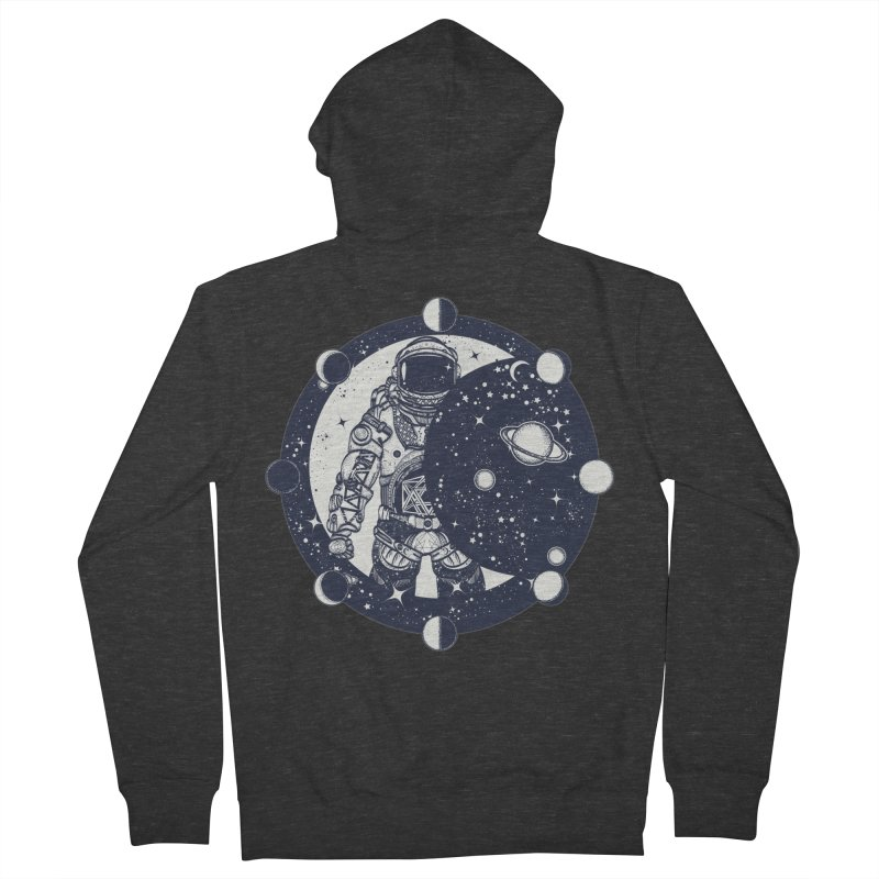 SPACEMAN Men's French Terry Zip-Up Hoody by DesignsbyAnvilJames's Artist Shop