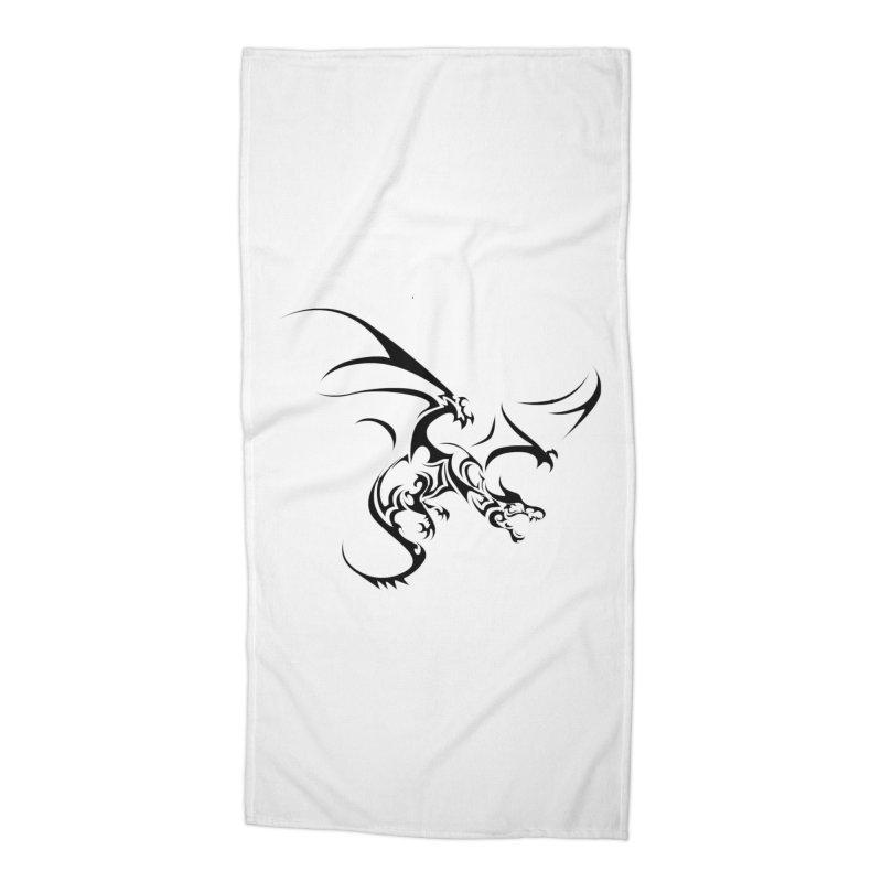Tribal Dragon Accessories Beach Towel by DesignsbyAnvilJames's Artist Shop
