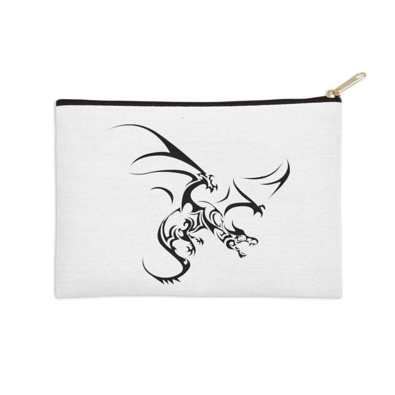 Tribal Dragon Accessories Zip Pouch by DesignsbyAnvilJames's Artist Shop