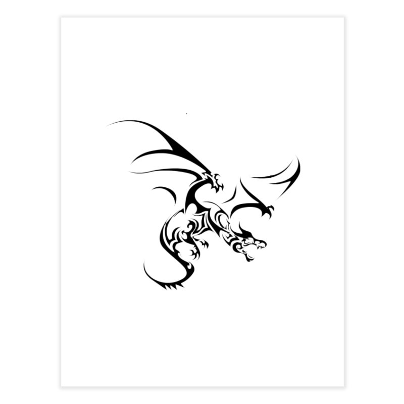 Tribal Dragon Home Fine Art Print by DesignsbyAnvilJames's Artist Shop