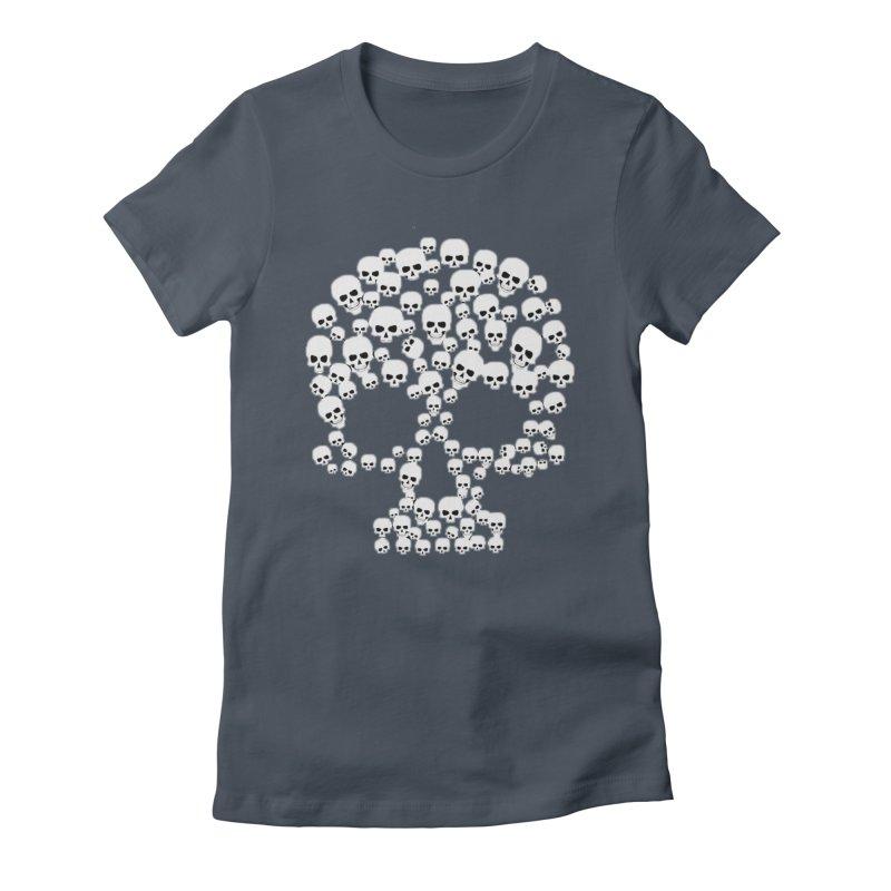 SKULLS Women's T-Shirt by DesignsbyAnvilJames's Artist Shop