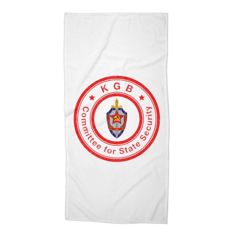 OLD KGB Accessories Beach Towel by DesignsbyAnvilJames's Artist Shop