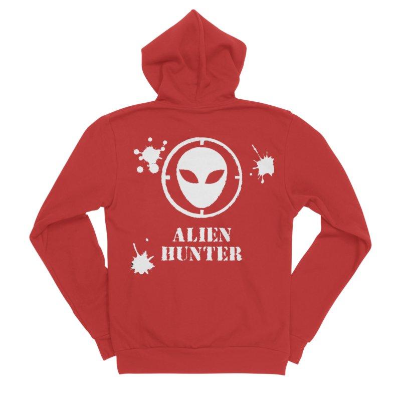 Alien Hunter Men's Zip-Up Hoody by DesignsbyAnvilJames's Artist Shop
