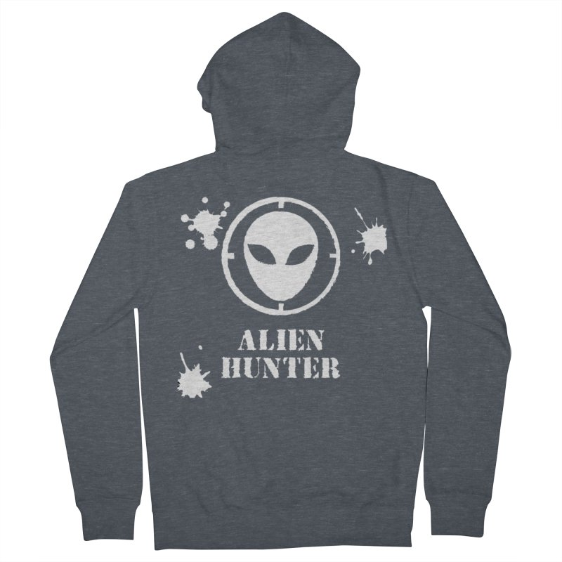 Alien Hunter Men's Zip-Up Hoody by DesignsbyAnvilJames's Artist Shop