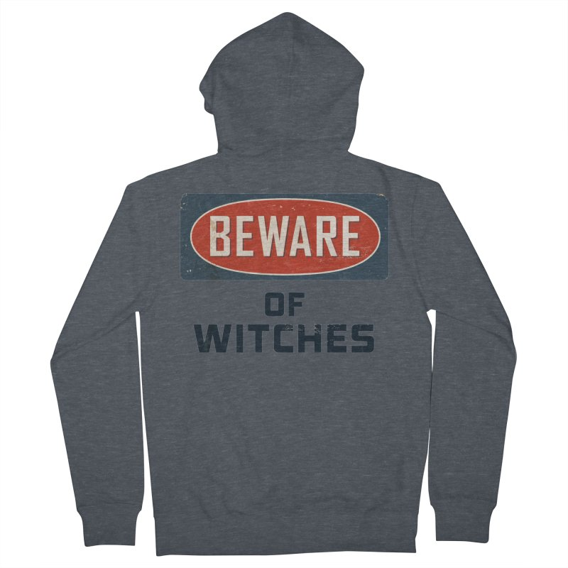Bware Witch Men's French Terry Zip-Up Hoody by DesignsbyAnvilJames's Artist Shop
