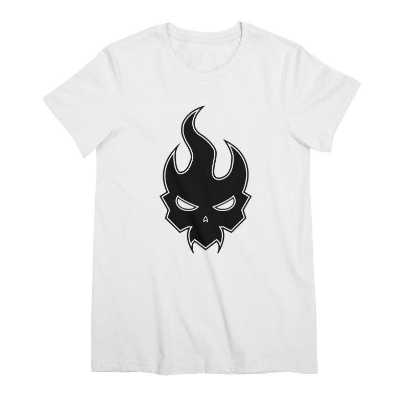 Blazzing Skull Women's Premium T-Shirt by DesignsbyAnvilJames's Artist Shop