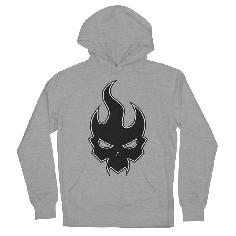 Blazzing Skull Women's French Terry Pullover Hoody by DesignsbyAnvilJames's Artist Shop