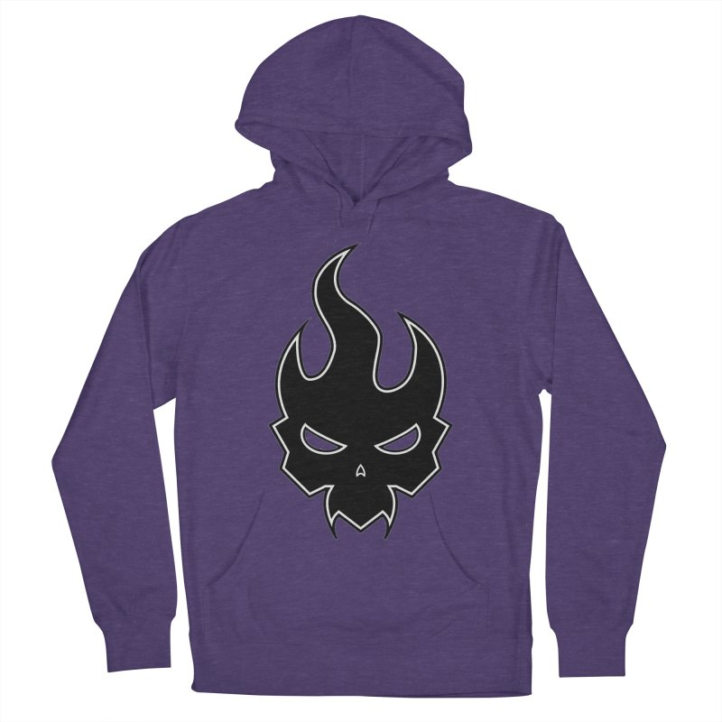 Blazzing Skull Men's French Terry Pullover Hoody by DesignsbyAnvilJames's Artist Shop