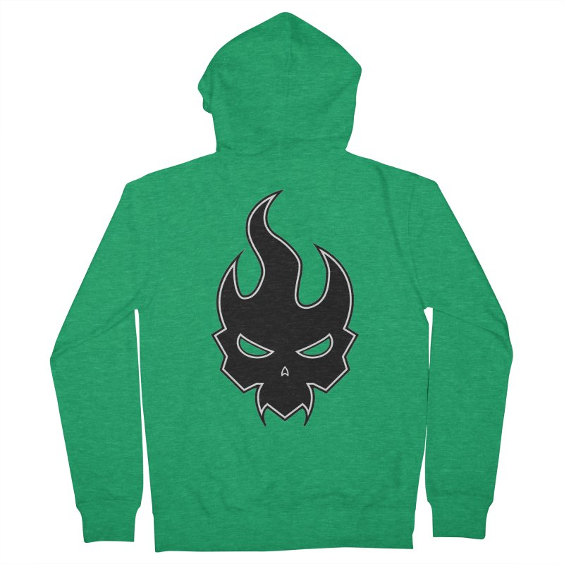 Blazzing Skull Men's Zip-Up Hoody by DesignsbyAnvilJames's Artist Shop
