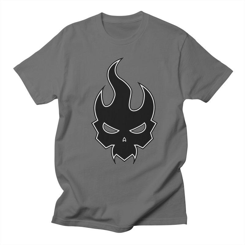 Blazzing Skull Men's T-Shirt by DesignsbyAnvilJames's Artist Shop