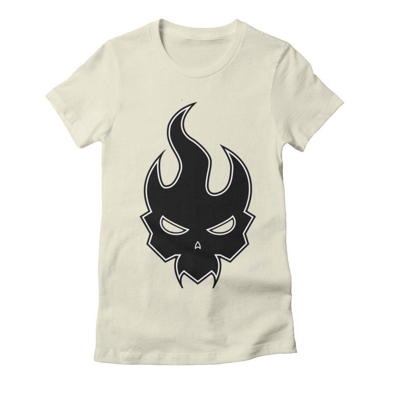 Blazzing Skull Women's Fitted T-Shirt by DesignsbyAnvilJames's Artist Shop