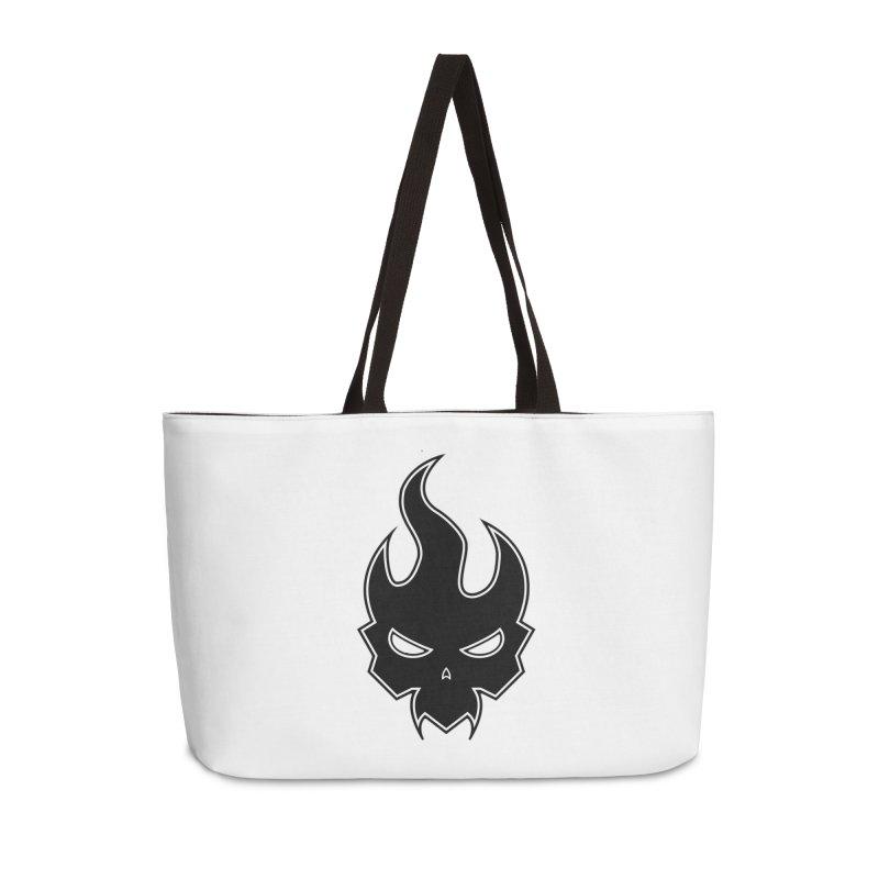 Blazzing Skull Accessories Weekender Bag Bag by DesignsbyAnvilJames's Artist Shop