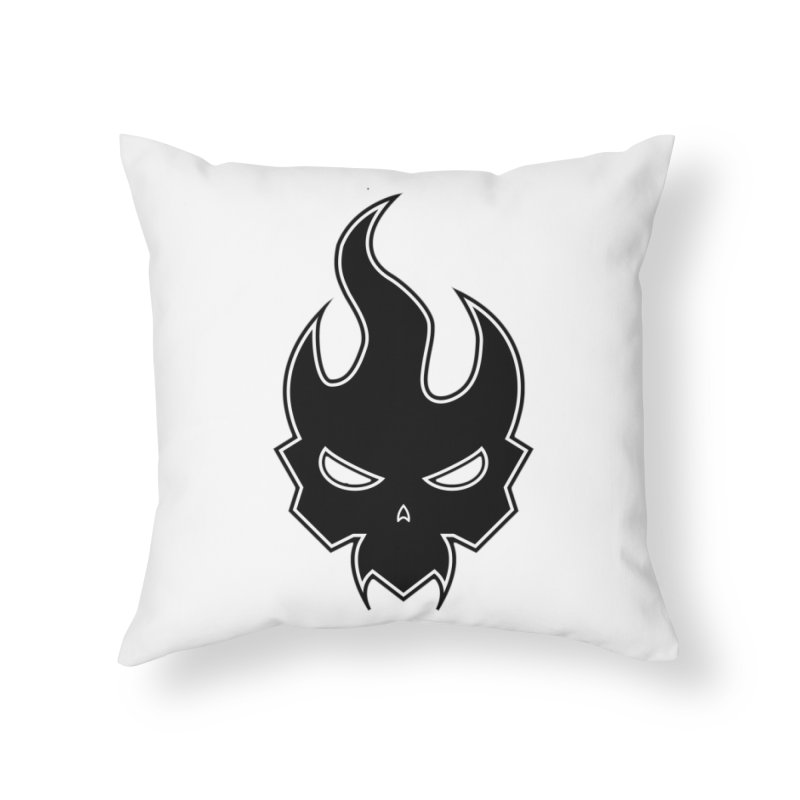 Blazzing Skull Home Throw Pillow by DesignsbyAnvilJames's Artist Shop