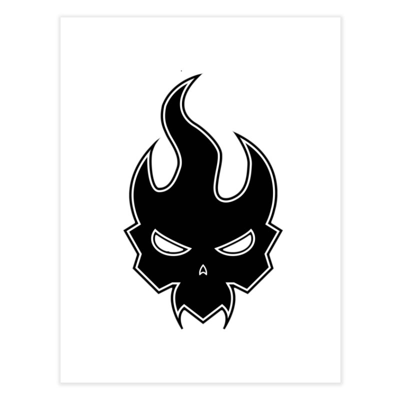 Blazzing Skull Home Fine Art Print by DesignsbyAnvilJames's Artist Shop