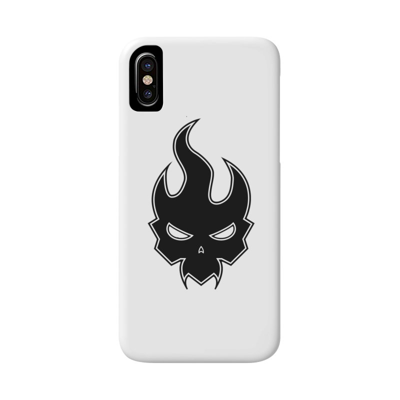 Blazzing Skull Accessories Phone Case by DesignsbyAnvilJames's Artist Shop
