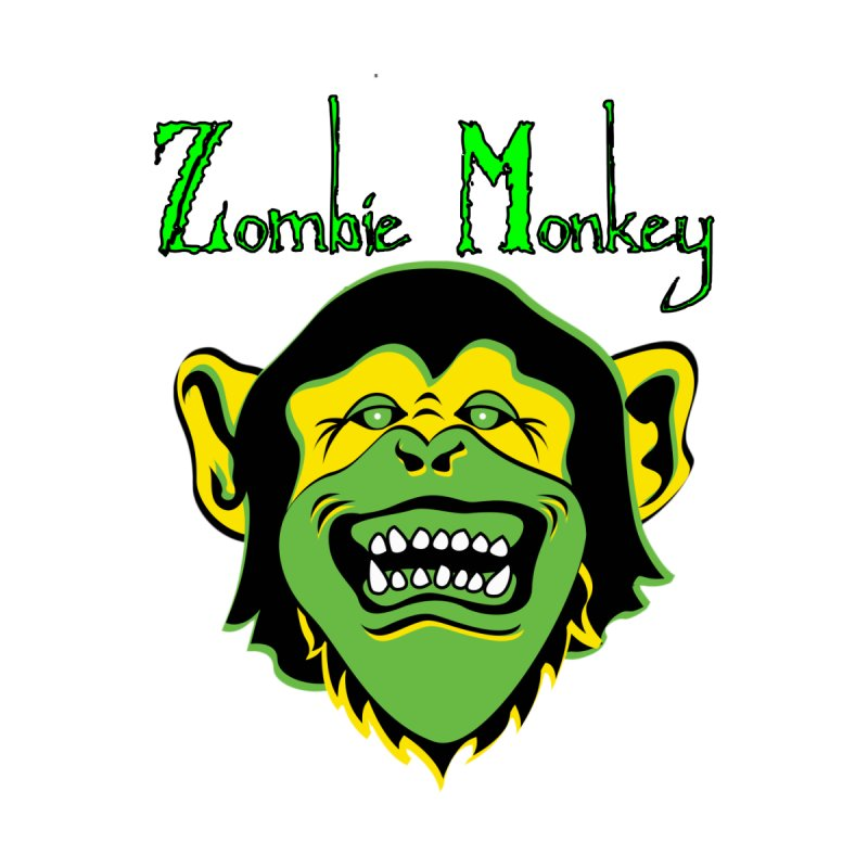 Zombie Monkey Men's Zip-Up Hoody by DesignsbyAnvilJames's Artist Shop