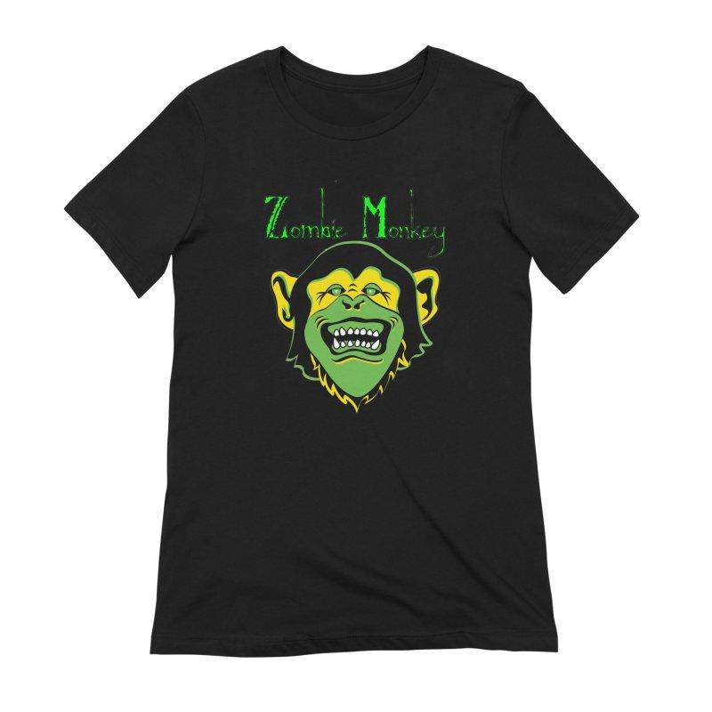 Zombie Monkey Women's Extra Soft T-Shirt by DesignsbyAnvilJames's Artist Shop