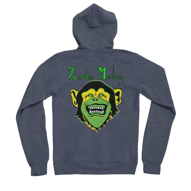 Zombie Monkey Men's Sponge Fleece Zip-Up Hoody by DesignsbyAnvilJames's Artist Shop