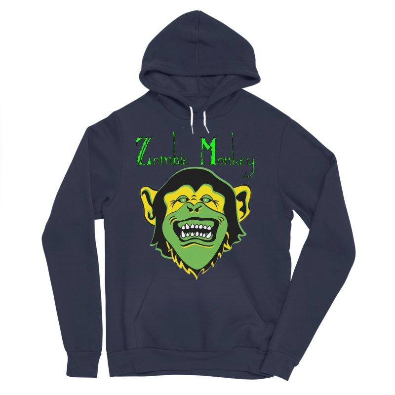 Zombie Monkey Women's Sponge Fleece Pullover Hoody by DesignsbyAnvilJames's Artist Shop