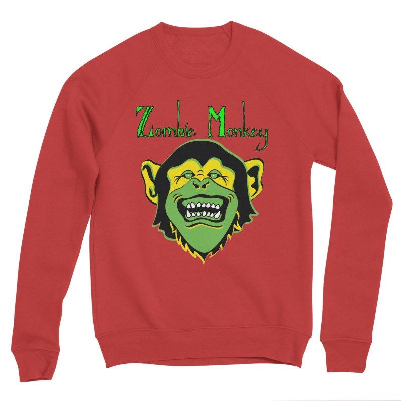 Zombie Monkey Men's Sponge Fleece Sweatshirt by DesignsbyAnvilJames's Artist Shop