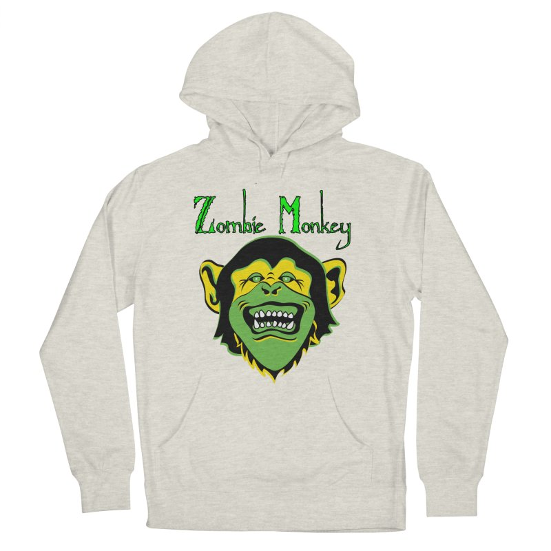 Zombie Monkey Men's French Terry Pullover Hoody by DesignsbyAnvilJames's Artist Shop