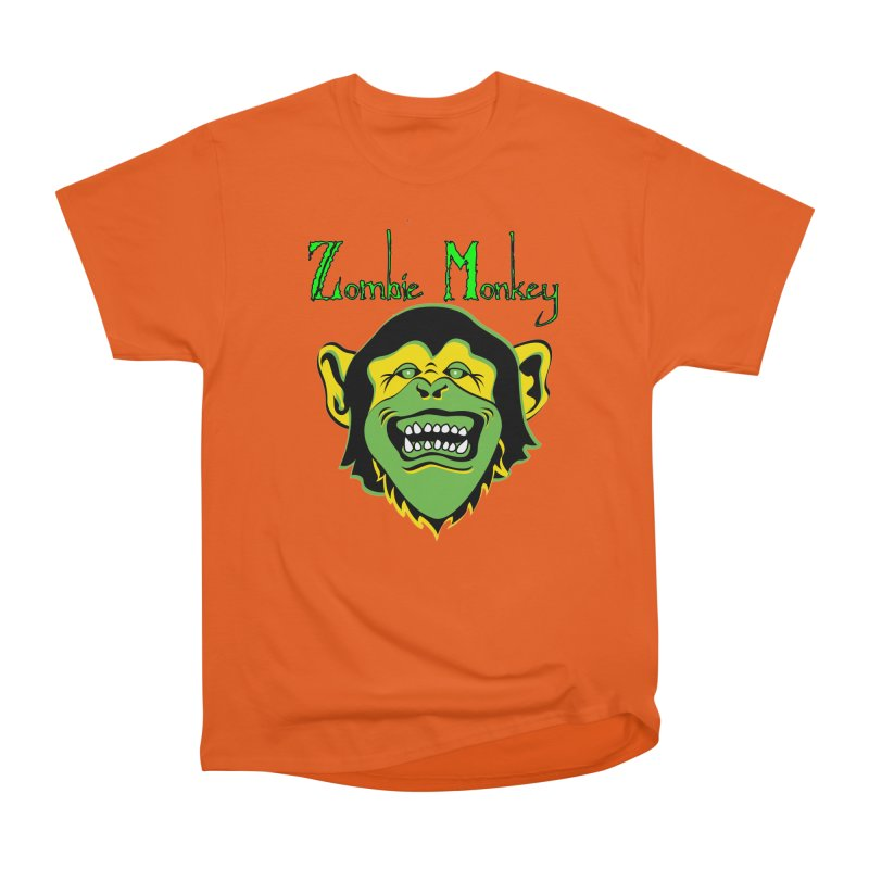 Zombie Monkey Women's Heavyweight Unisex T-Shirt by DesignsbyAnvilJames's Artist Shop