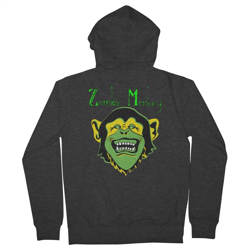 Zombie Monkey Women's French Terry Zip-Up Hoody by DesignsbyAnvilJames's Artist Shop