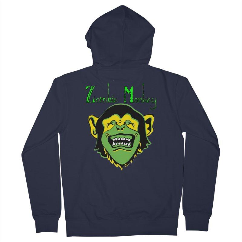 Zombie Monkey Men's Zip-Up Hoody by DesignsbyAnvilJames's Artist Shop