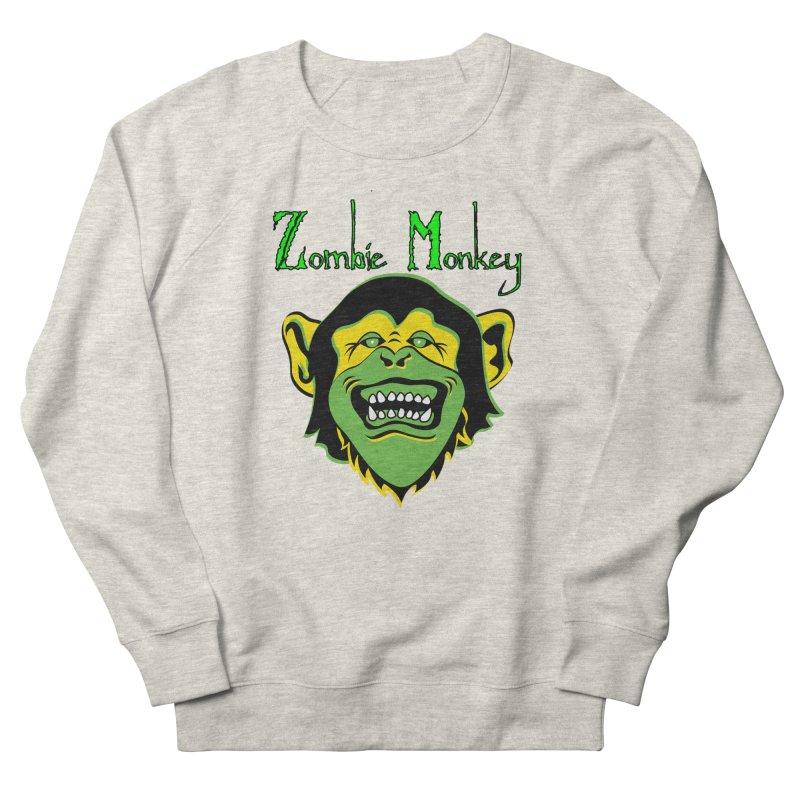 Zombie Monkey Men's French Terry Sweatshirt by DesignsbyAnvilJames's Artist Shop