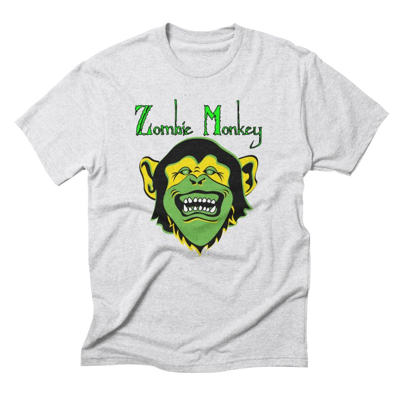 Zombie Monkey Men's Triblend T-Shirt by DesignsbyAnvilJames's Artist Shop