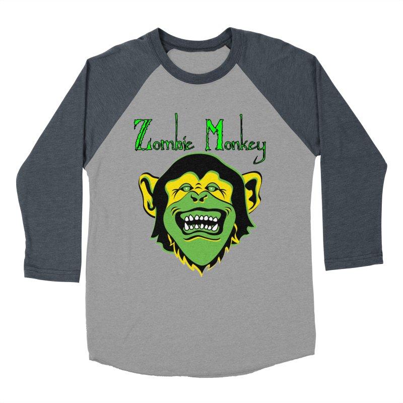 Zombie Monkey Women's Baseball Triblend Longsleeve T-Shirt by DesignsbyAnvilJames's Artist Shop