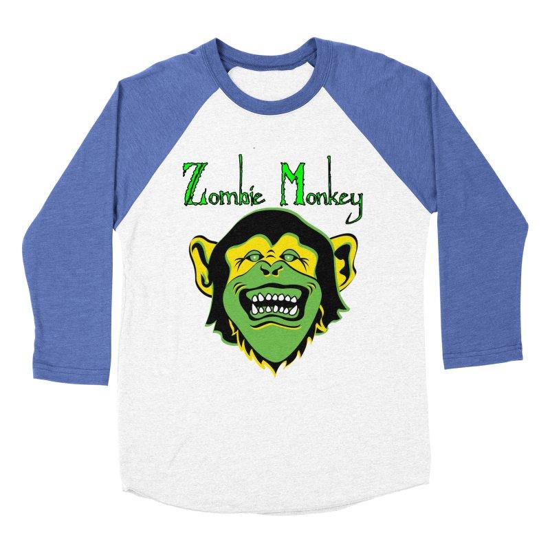 Zombie Monkey Men's Baseball Triblend Longsleeve T-Shirt by DesignsbyAnvilJames's Artist Shop