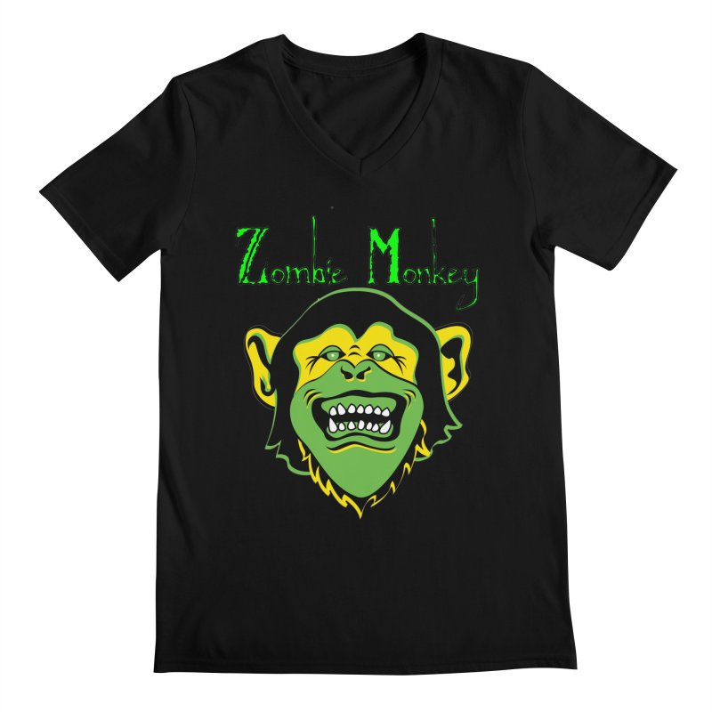 Zombie Monkey Men's Regular V-Neck by DesignsbyAnvilJames's Artist Shop